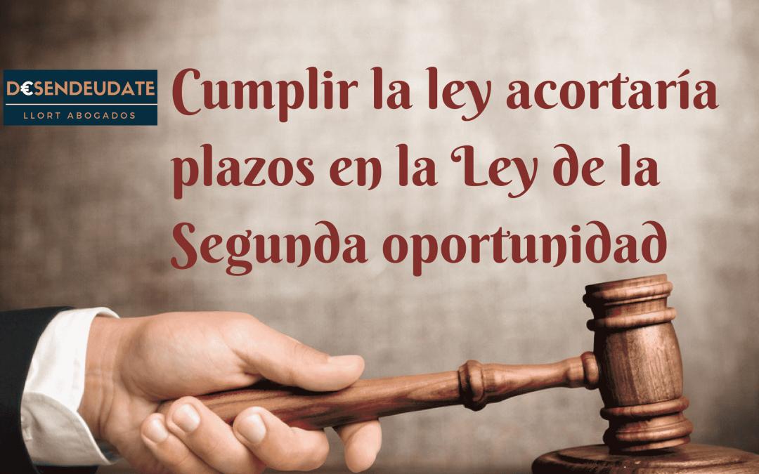 Ley Segunda Oportunidad: Protocolo jueces de Barcelona, ¿una verdadera reducción de plazo de tramitación del procedimiento?